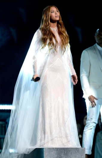 Beyonce performs 'Precious Lord, Take My Hand' onstage during The 57th Annual GRAMMY Awards